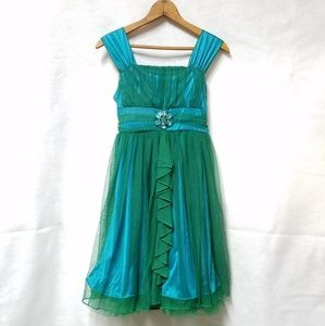 NWT Sequin Hearts Green Teal Formal Party Dress 12